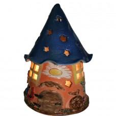 """Сольова лампа """"Будиночок Гнома"""" нічник для дитячої кімнати(керам)"""