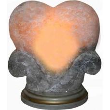 "Сольова лампа ""Серце"" 4-5кг кольорове"